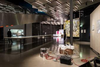 """Ausstellungsansicht """"was sein wird"""", Foto: Kunsthaus Graz / M. Grabner"""