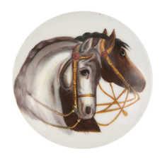 Bierkrugdeckel mit Pferdemotiv, Foto: Christa Knott