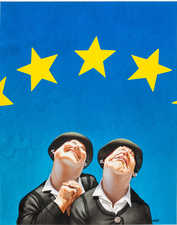 "Gerhard Haderer, ""EU"", 1999 © Landessammlungen NÖ"